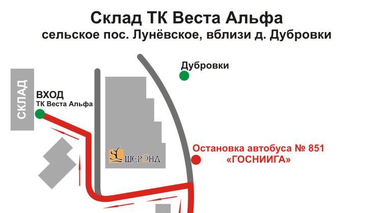 Схема проезда на общественном