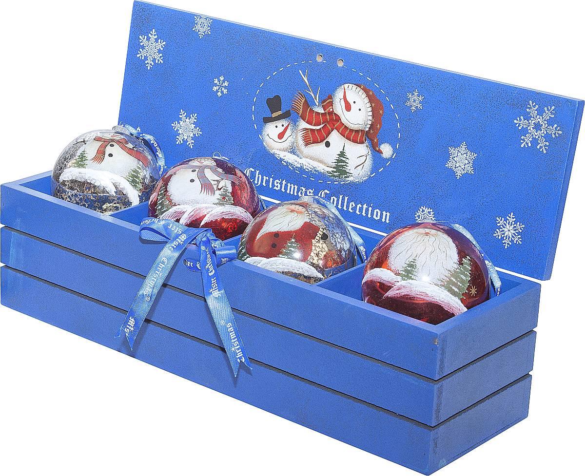 Набор шаров в деревянной коробке LH-B7-SET/4