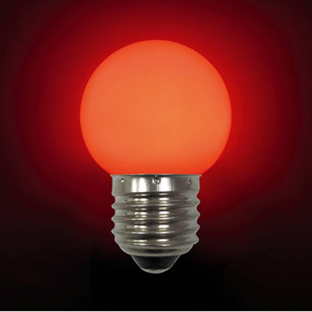 Лампа светодиодная E27 LB-45-RED