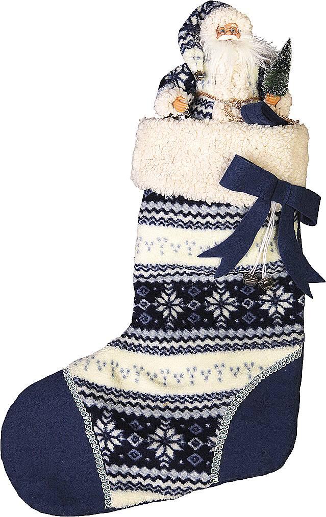 """Носок для подарков """"(h=60 см) с Дедом морозом (h=30 см)"""" GL-SOCK-2-DM"""