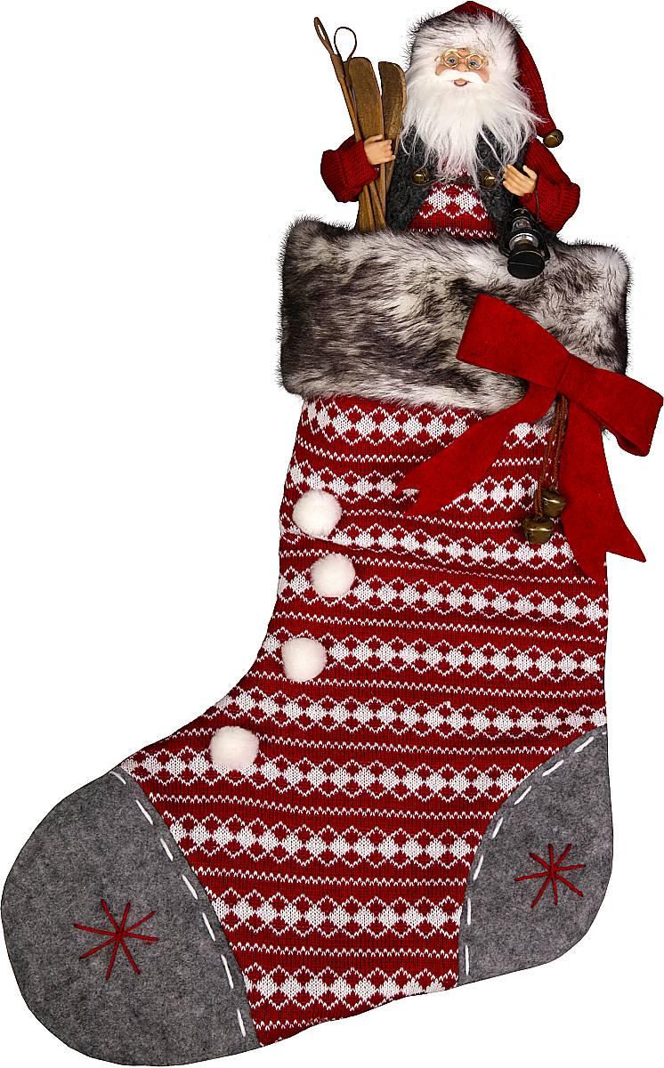 """Носок для подарков """"(h=60 см) с Дедом морозом (h=30 см)"""" GL-SOCK-1-DM"""
