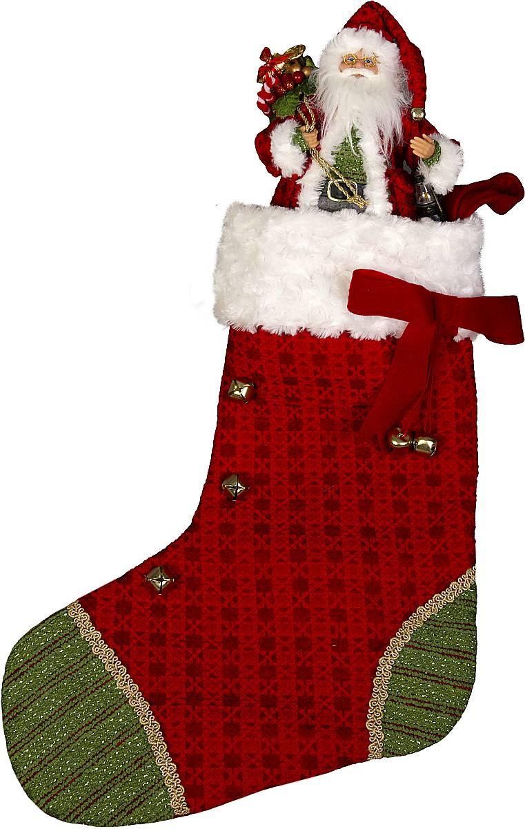 """Носок для подарков """"(h=60 см) с Дедом морозом (h=30 см)"""" GL-SOCK-3-DM"""