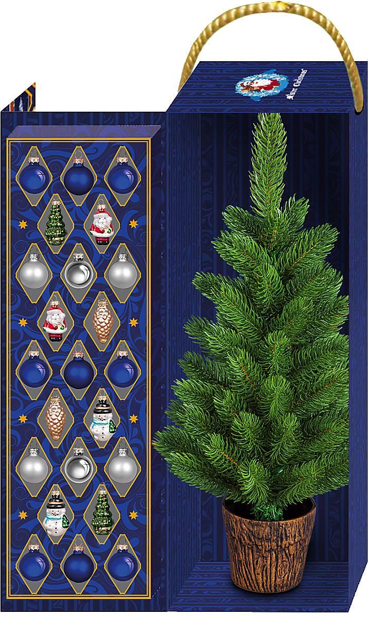 """FT-XT-SET3 Набор украшений """"с ёлкой Mister Christmas (цвет: разноцветный) с лого «РСК МИГ»"""" FT-XT-SET3"""