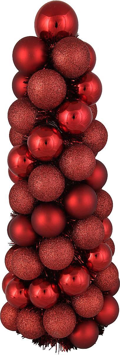 Декорированная елка из шариков  BC-TREE-1-R