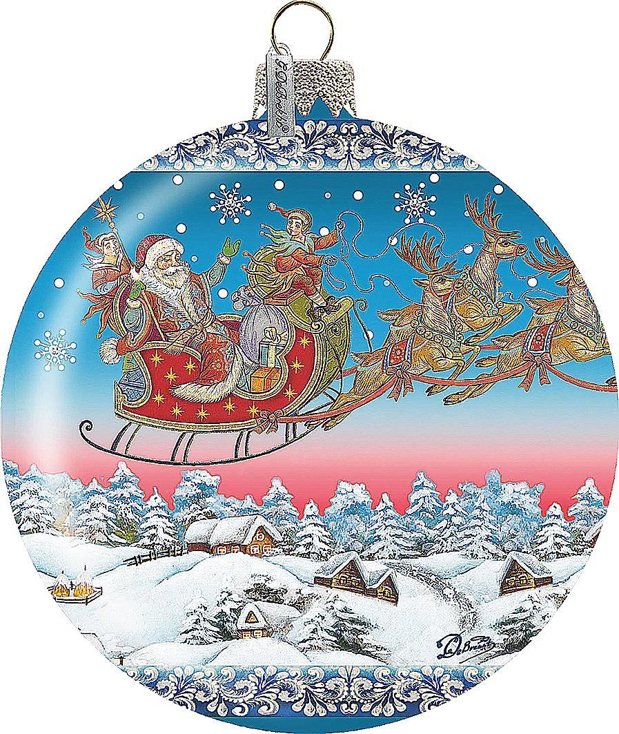 """Новогодний сувенир """"Дед Мороз на санях"""" US 73842"""