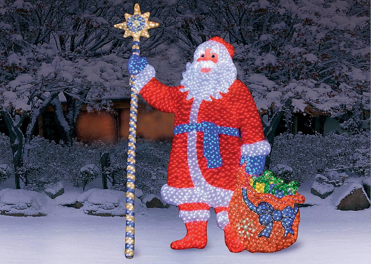 "Композиция LED рельефная """"Дед Мороз"""" SHG-1-3"