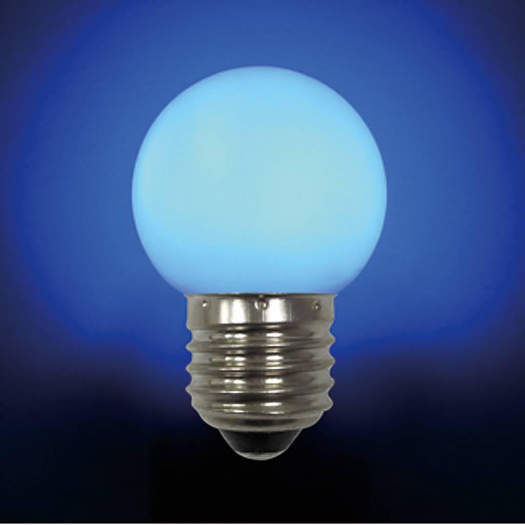 Лампа светодиодная E27 LB-45-BLUE