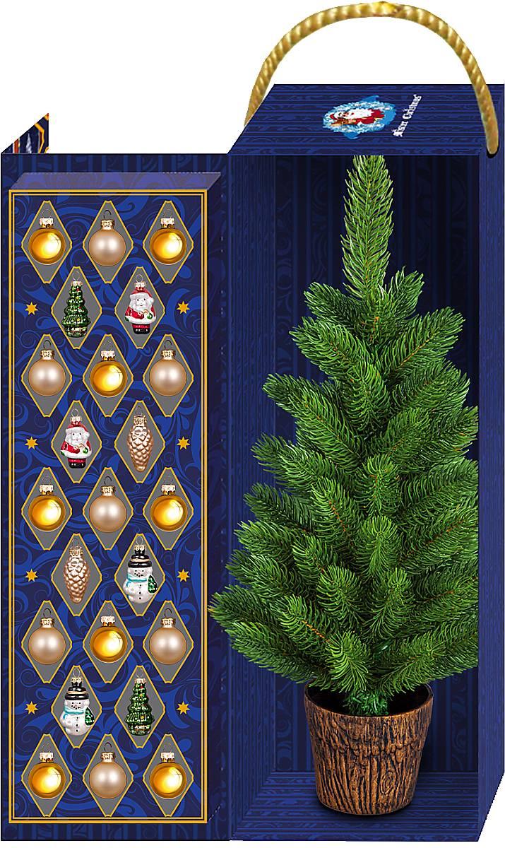 """Набор украшений с ёлкой """"Mister Christmas (цвет: разноцветный) с лого «TELS»"""" FT-XT-SET1"""