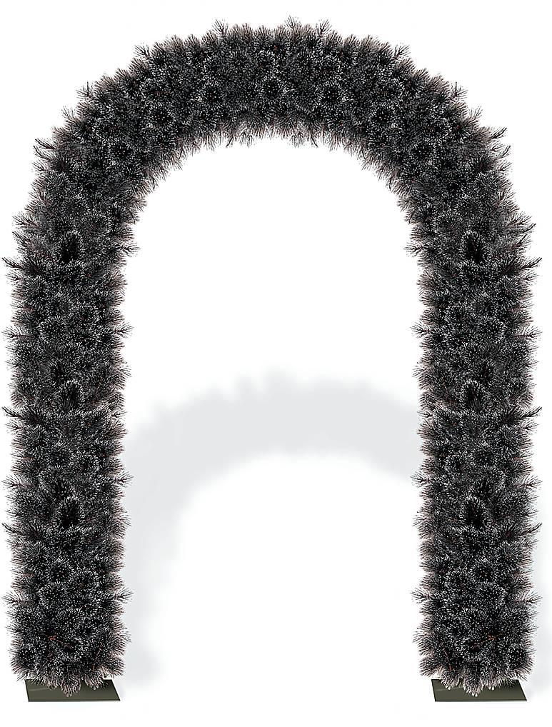 """Украшение из искусственной хвои """"Арка"""" F-DOOR DOUGLAS BLACK"""