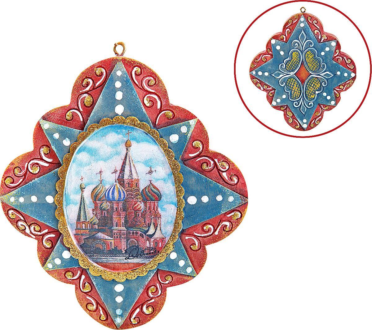 """Украшение """"Собор Василия Блаженного"""" US 6103405-1"""